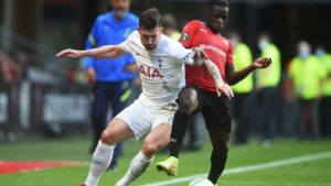 Hojbjerg goal earns Spurs draw with Rennes in Conference League