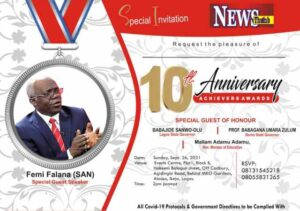 NewsThumb Magazine Stages 10th Anniversary and Achievers' Awards Sept 26