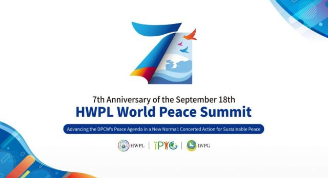 World Peace Summit Calling for Concerted Action for Sustainable Peace in the New Normal Era